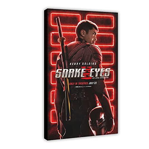Action Movie Snake Eyes G.I. Joe Origins 2 poster su tela, decorazione da parete per soggiorno, camera da letto, 60 x 90 cm