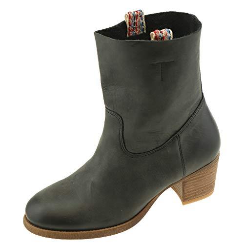 Goldmud + Sauvage Cosmetique Bottines pour Femme Serena Ocean Black 7551 + Chaussures. - Noir - Ocean Black, 36 EU