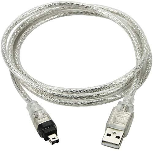 YSF Cable de datos USB 2.0 macho a FireWire IEEE 1394 de 4 pines para videocámara DV HDV Macbook Sony DCR-TRV75E DV
