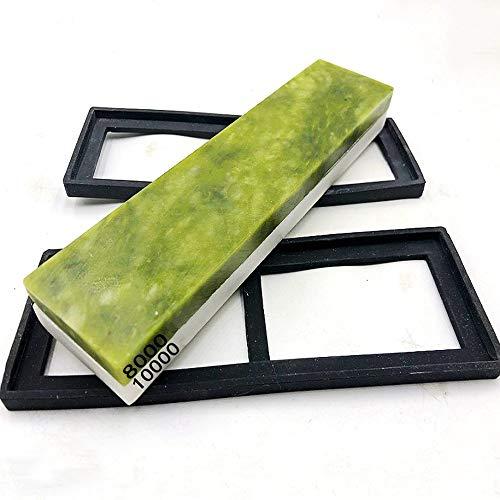 FXYHELLO Premium-Whetstone Set 8000/10000 Grit 2-in-1-natürliche grüne...