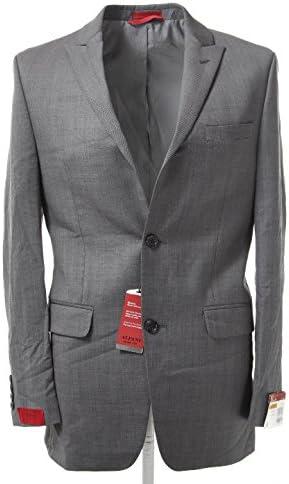 Alfani Traveler Men's Grey Solid Slim-Fit Suit Jacket 36R