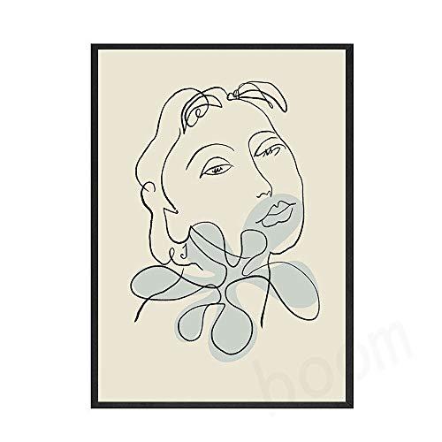 Picasso Matisse carteles e impresiones abstracto gato niña flor pared arte imagen familia sin marco lienzo pintura B 50x70cm
