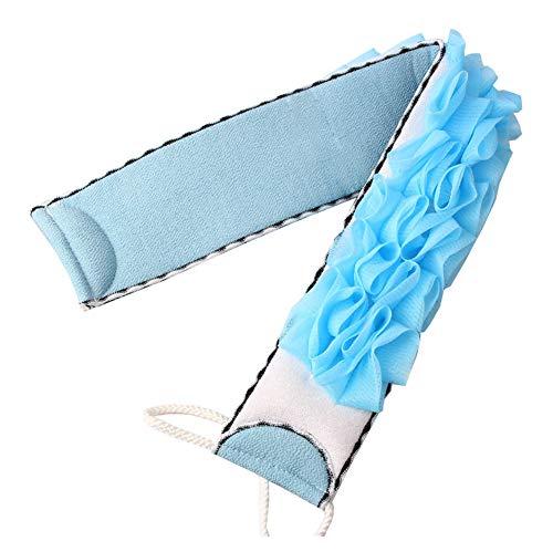 Serviette de bain Double face Douche Bain Fleur Serviette De Bain Longue Sangle Bleu