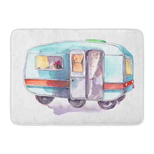 """ECNM56B Doormats Bath Rugs Door Mat Trailer Vintage Motorhome Caravan Travel Adventure Camp Camper 15.8""""x23.6"""""""