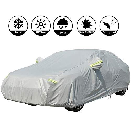 VISLONE Copriauto Telo Copriauto Impermeabile e Pieghevole Copriauto Protezione da Pioggia e Neve Resistente al Vento Anti UV Protezione Solare Telo Auto Aggiornato (M: 432 * 165 * 120 cm)