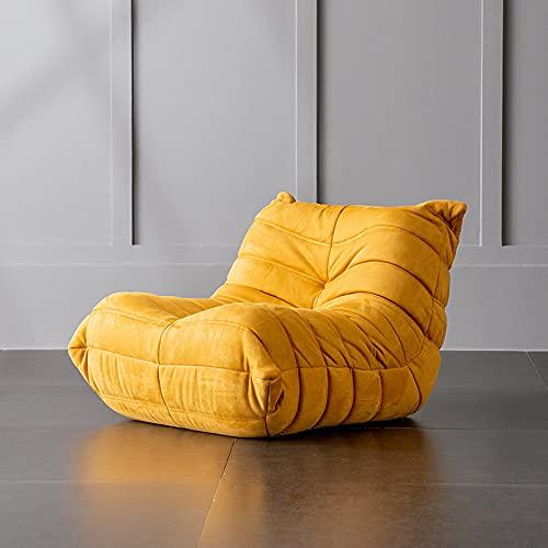 YINGTAO22-SHOP Sofás Arte de Cuero de Franela Arte Individual y Doble Lazy Sofá Arte pequeño apartamento balcón Simple Ocio reclinable Sofa Chaise Longue (Size : Pedal)