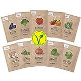 SKINFOOD SOUS VIDE Sheet Masks for Face - 10 Packets of Food Intensive Moisturizing and Nourishing Skin - Facial Mask Sheet Combo, Vegan Skincare - Blemish Control & Solution (10 Pack)