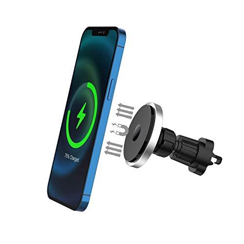 Support de téléphone de chargeur de voiture magnétique sans fil compatible avec Phone 12 12 Pro 12 Pro Max 12 mini support de téléphone d'aération avec rotation à 360 °