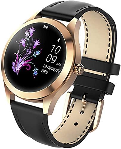 Reloj Inteligente KW10 Señoras Fitness Pulsera Tracker Monitor de Ritmo Cardíaco Sportwatch IP68 Reloj Impermeable Smartwatchandroid IOS-D