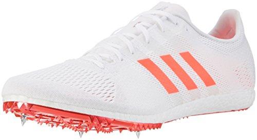 adidas Herren Adizero Avanti Laufschuhe, Weiß (Footwear White/solar Red/Silver Metallic), 40 2/3 EU