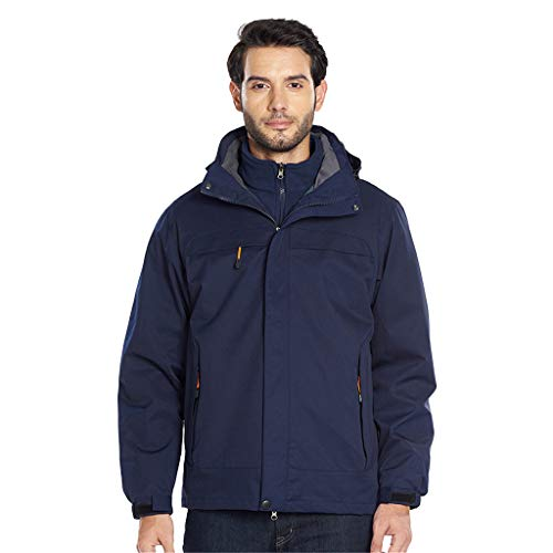 Great Price! Men Windbreaker Hooded Rain Jacket Lightweight Packable Raincoat Outdoor Camping Travel...