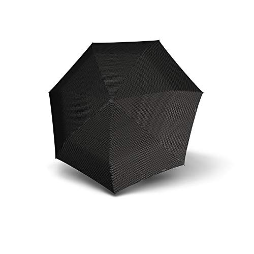 Doppler Carbonsteel Magic XS Chic Damen Regenschirm Taschenschirm Umbrella Schirm mit Doppel Automatik 747765D, Farbe:Schwarz