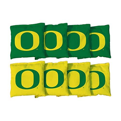 Victory Tailgate NCAA Collegiate Regulation Cornhole Game Bag Set (8 Bags Included, Corn-Filled) - Oregon Ducks