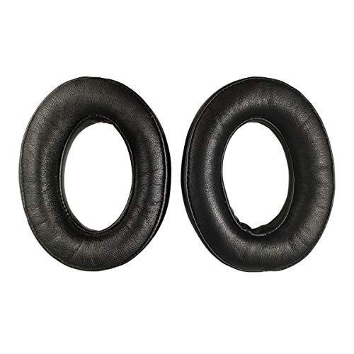 Almohadillas de Repuesto de Piel de Oveja para Auriculares Bose QuietComfort QC 2 15 25 35 para QC2 QC15 QC25 QC35 SoundLink SoundTrue Around-Ear II AE2 (Negro)