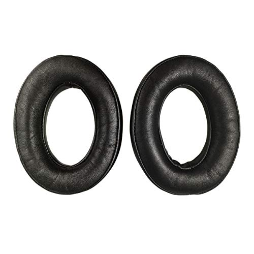 Sheepskin Replacement Ear Pads Earpads for Bose QuietComfort QC 2 15 25 35 Ear Cushion for QC2 QC15 QC25 QC35 SoundLink SoundTrue Around-Ear II AE2 (Black)