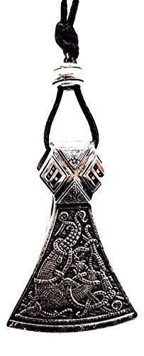 Eclectic Shop Uk Axt Mammen Gothic Altnordisch Slavisch Mammon Viking Anhänger Perlen Schnur Halskette
