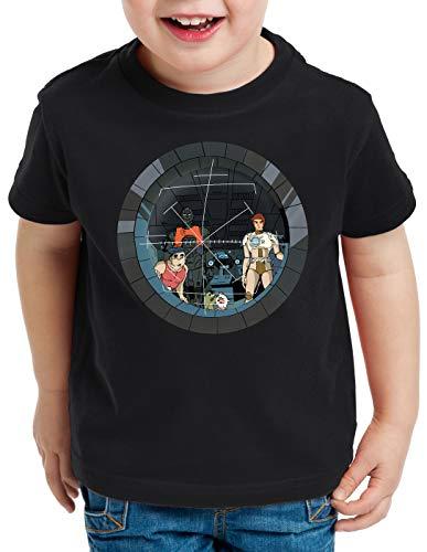 style3 Future Crew T-Shirt für Kinder Anime Raumschiff Captain, Farbe:Schwarz, Größe:152
