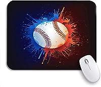 ROSECNY 可愛いマウスパッド オレンジソフトボール野球ボール赤ホームラン塗装熱ノンスリップラバーバッキングマウスパッド用ノートブックコンピュータマウスマット