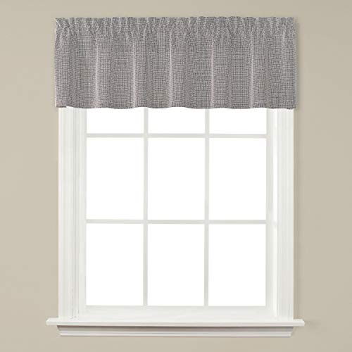 SKL Home by Saturday Knight Ltd. Nelson Valance, Silver, 58 inches x 13 inches