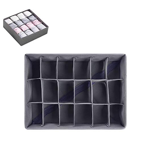 tiantang Closet Underwear Organizer Drawer Divider Bra Sock Underwear Tie Cloth Organizer Foldable Closet Storage Box