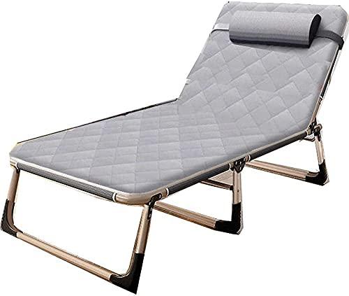 LPIJN Silla para Exteriores Zero Gravity Cama Plegable Individual sillón reclinable para el Almuerzo Simple para el hogar Cama portátil para Acampar para Adultos de Oficina-3 (Color: 2)