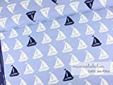 Mamasliebchen Jersey-Stoff Baltic sea #Blue (0,5m) Boote