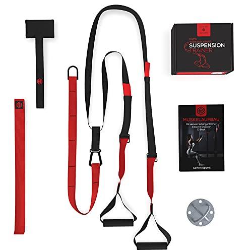 Gemini Sports Schlingentrainer - Sling Trainer Set inklusive E-Book, Wandhalterung und Türanker - Suspension Trainer für Training im Innen- und Außenbereich - Premium Slingtrainer