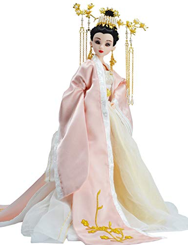 Orientalisches Dekor, chinesische Puppe mit antikem Kostüm, Seidenpuppen, 30 cm Puppenmädchen für die Tischdekoration,a