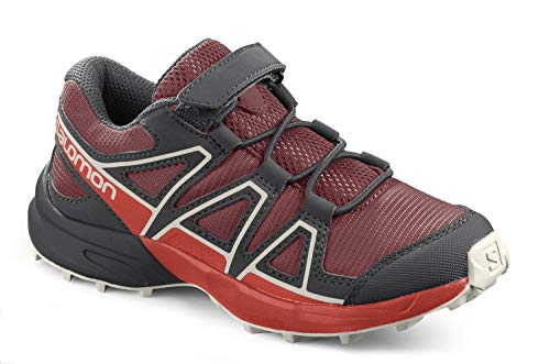 Salomon Speedcross Bungee K, Zapatillas de Trail Running, Rojo (Red Dahlia/Cherry Tomato/Vanilla Ice), 26 EU