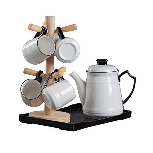 CHSSC Set da tè 9 pezzi, Set da tè per adulti Set da caffè in Ceramica, servizio da tè per matrimoni per adulti Set di tazze da caffè