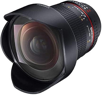 Samyang F2.8 - Objectivo para Canon, (14 mm IF ED UMC, Ultra Wide Angle Lens), Negro