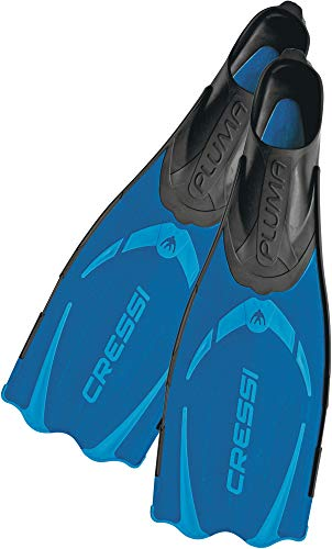 Cressi Pluma / Pluma Bag - Premium Flossen Set, Blau/Hellblau, 33/34