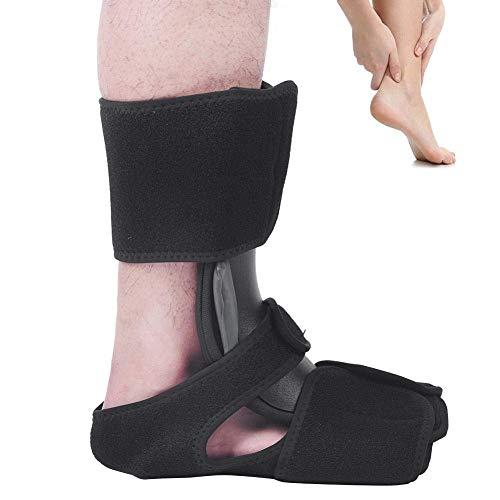 Nachtschiene, Tendinitis Fuß Unterstützung Fuß Drop Orthesen Aluminiumschiene Klammer Plantar Fasciitis Fester Support Knöchelorthese für beide Links und Rechts Fußschutz(S/M)