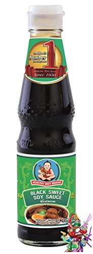 yoaxia ® Marke Set - [ 400g / 300ml ] HEALTHY BOY Dunkle Süße Sojasauce / Black Sweet Soy Sauce + ein kleines Glückspüppchen - Holzpüppchen