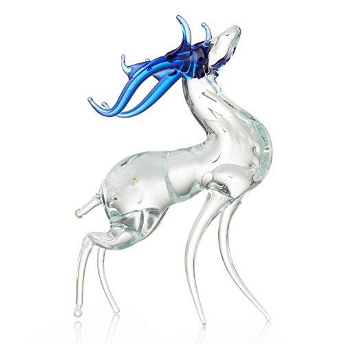 Handblown Glass Reindeer Minifigure Decor Vintage stile Decorative Deer (stile Nr 2) by Art Glass