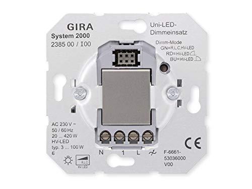 Gira 238500 Universal Dimmeinsatz (Tastdimmer) für LED-Lampen Typ 3-100W