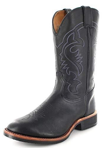 Boulet Herren Cowboy Stiefel 2164 EEE Black Westernreitstiefel Lederstiefel Schwaz 45 EU