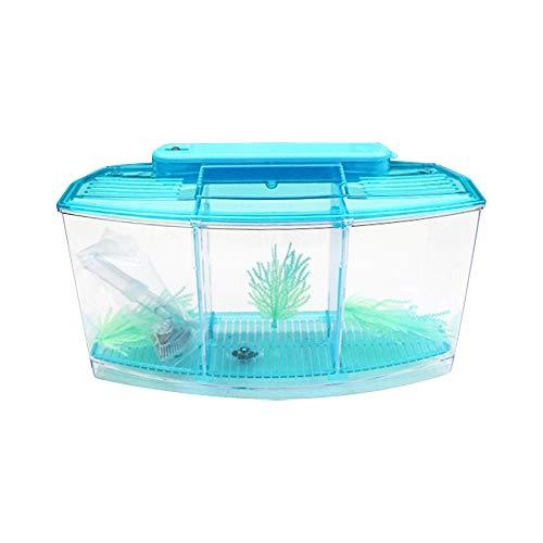 ZZMUK Mini acuario pequeño pecera, escritorio mini tanque d
