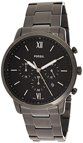 Fossil Men's Neutra Chrono Stainless Steel Quartz Stainless-Steel-Plated Strap, Black, 20 Casual Watch (Model: FS5474)