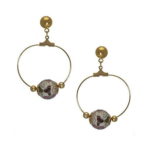 Zola Gold tone Multi Coloured Post Drop earrings