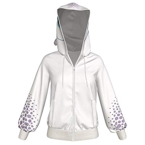 Xcoser Light Fury Kapuzen pullover Hoodie Weiß Jacke Zip Sweatshirt Film Cosplay Kostüm Damen Mantel für Erwachsene Kleidung