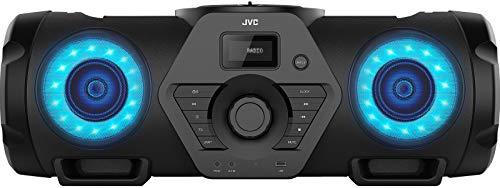JVC Boomblaster RV-NB200BT, 2 x 30 Watt, UKW, Bluetooth, CD, USB, Line-In, Gitarren- & Mikrofoneingang, Fernbedienung