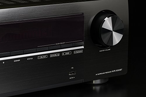 デノンDenonAVR-X550BTAVレシーバー5.2chDolbyTrueHD/DTS:HD/MasterAudio対応エントリークラスブラックAVR-X550BT-K