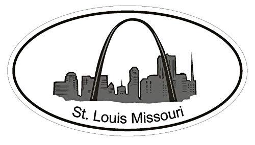 Set of 3 - St Louis Missouri Oval Vinyl Gateway Arch
