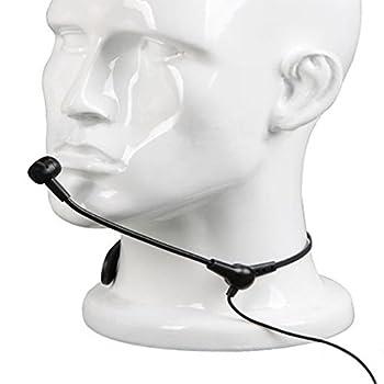 Neck Lavalier Condenser Microphone for Loudspeaker Megaphone 3.5mm Plug,Amplifier for Microphone