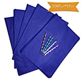 200 Sheets Blue Carbon Paper for Tracing,Carbon Transfer Paper Graphite Copy Paper with 5 Pieces Embossing Styluses Stylus Dotting Tools for Wood,Paper,Canvas and Other Art Surfaces 8.3 x 11.7inch