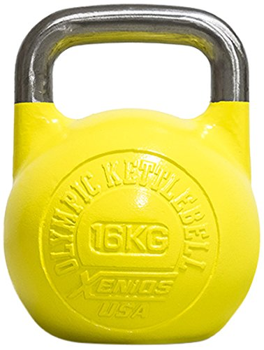 Xenios USA XSSTOKBL16, Russian Girevoy Competition Kettlebell Unisex, Giallo, 16 kg