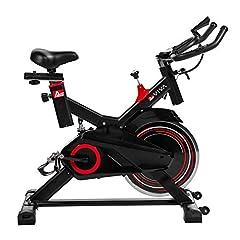 AsVIVA Indoorcycle Speedbike S11 met 18kg balansmassa zwart, incl. fitnesscomputer, comfortzadel, handpulssensoren, speedbike met stille riemaandrijving - compact*