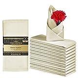 Talvania Cloth Napkins - Set of 12 Dinner Napkins - Soft Poly Cotton Washable Napkins - Reusable Fabric Table...