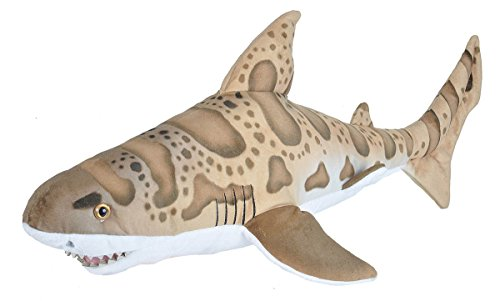 Wild Republic Leopard Shark Plush, Stuffed Animal, Plush Toy, Gifts for Kids, Living Ocean 27 Inches